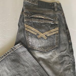 Axel relaxed straight light gray cotton jeans 36